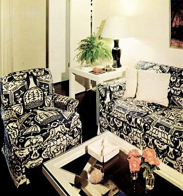 The Vase Fabric By David Hicks For Clarence House Covers Two Chairs In This  Living Area! Via Chinoiseriechic.blog