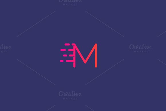 Dynamic Moving Letter M Logo. By Bureau On @Creativemarket | Apps