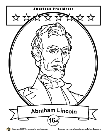 George Washington S Portrait Coloring Page Abraham Lincoln Craft History Lessons For Kids Coloring Pages
