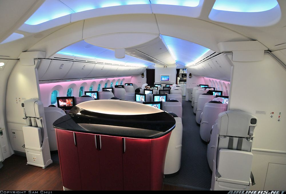 Qatar airways a7 bcl boeing 787 8 dreamliner aircraft for Interieur qatar airways