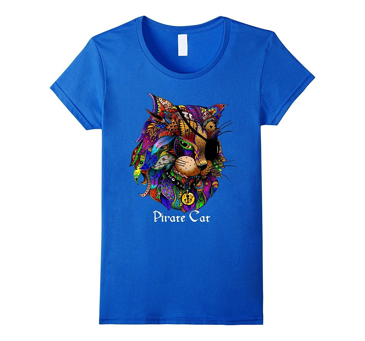 Cool Rainbow Pirate Cat Shirt