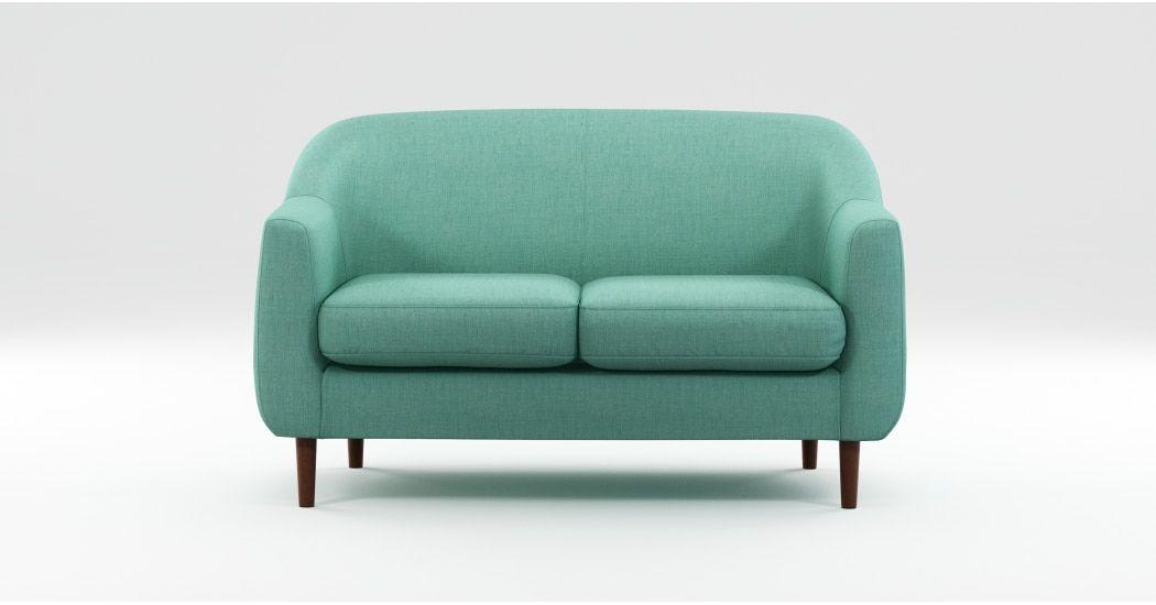 Made Soft Teal Sofa 2 Seater Sofa Sofa Love Seat