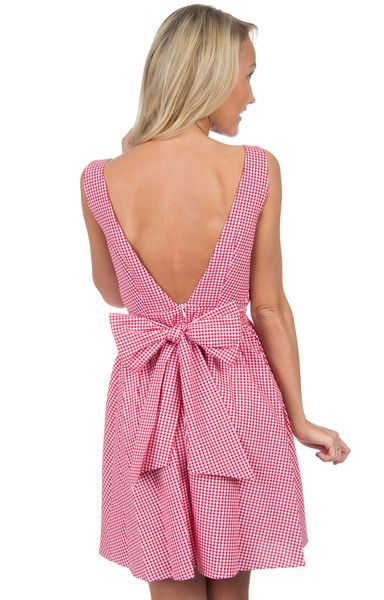 The Emerson Gingham Dress - Red Gingham Back
