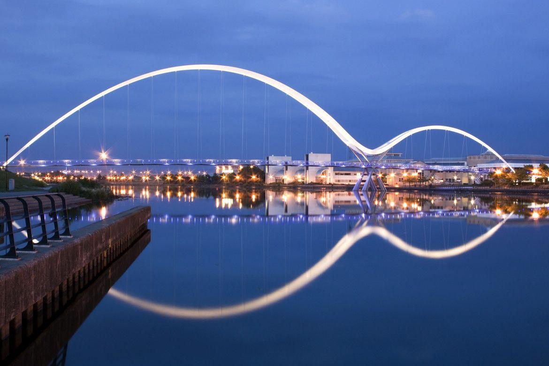 Infinity Bridge Stockton On Tees County Durham England Stockton On Tees Bridge Engineering British Holidays