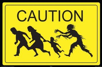 Amazon.com: NMR 24996 Zombie Caution Decorative Poster: Home & Kitchen