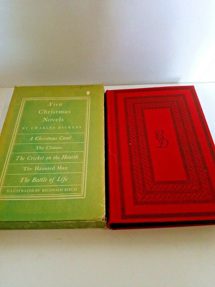 Christmas Novels 2020 Five Christmas Novels by Dickens w/ Slipcase 1939 in 2020