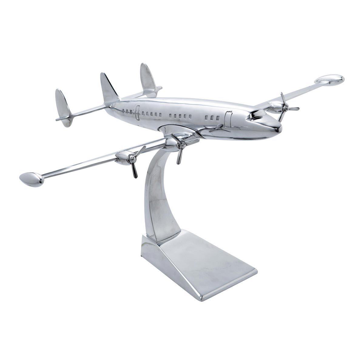 Avion déco en métal 31 x 50 cm   Chrome, Bedrooms and Interiors