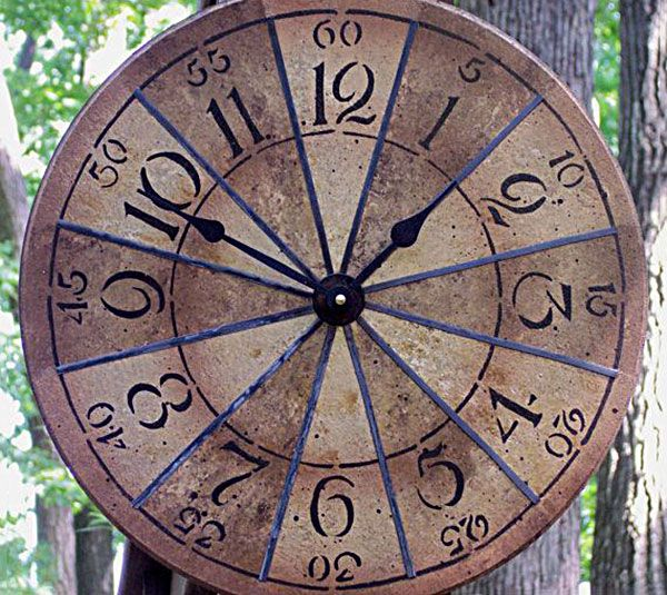 Make a clock with cork sheets, markers or paint, and a clock kit