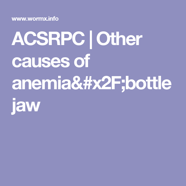 ACSRPC | Other causes of anemia/bottle jaw | Discovery Farm