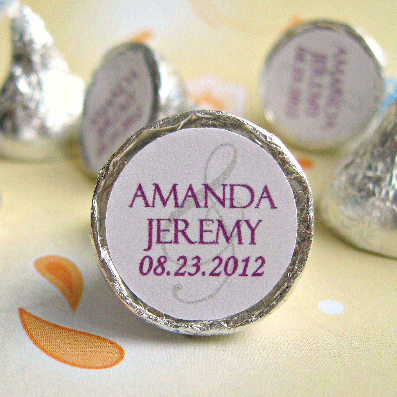 Timeless Personalized Hershey Kisses Stickers Labels | Wedding ...