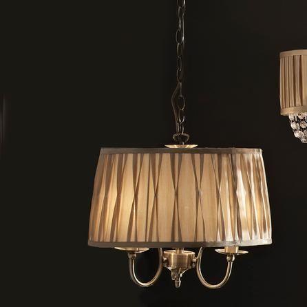 reeded 3 light fitting antique brass dunelm mill. Black Bedroom Furniture Sets. Home Design Ideas