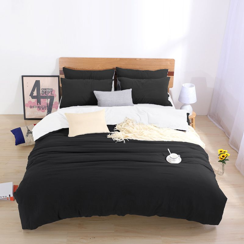 Two Tone Bedding Sets King Custom Size Duvet Cover Set For USA,bed Linens
