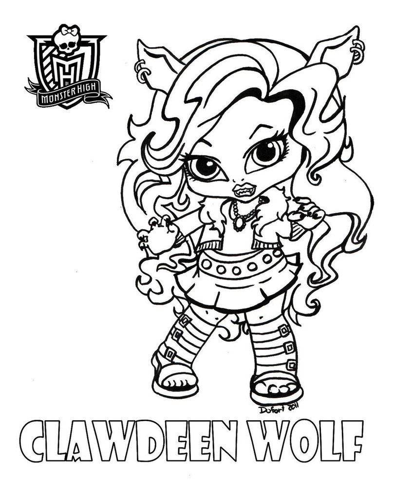 Baby Clawdeen Printable Coloring Sheet From Jadedragonne At