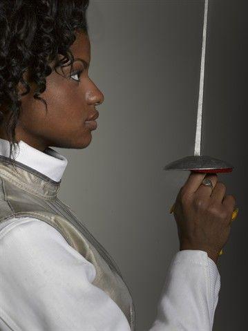 Model Olympian Nzingha Prescod Fencing Slideshows