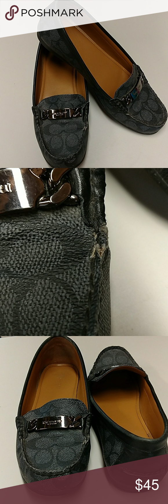 Coach New York loafers Some wear and tear as pictured but still have a lot of life left still nice looking. Coach Shoes