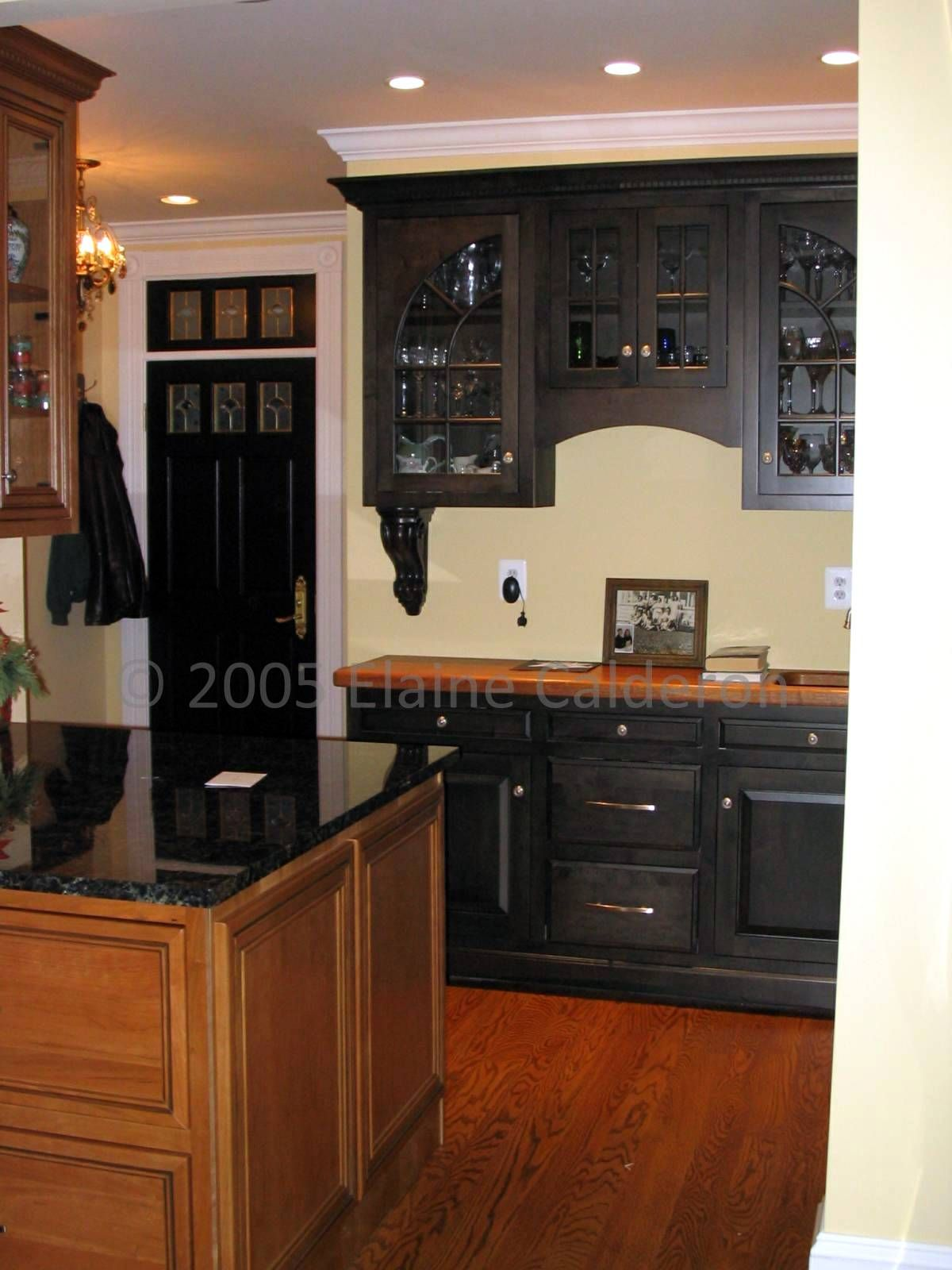 Traditional kitchen seattle by canyon creek cabinet company - Canyon Creek Cabinetry Cherry Inset Door Maple Painted Black Inset Door Granite And