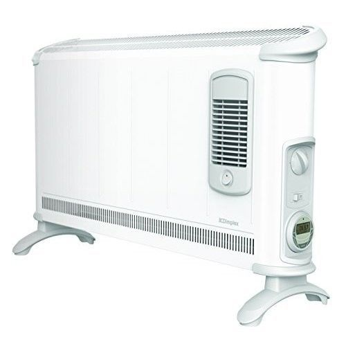 Electric Space Heater Floor Air Fan Standing Home White Convector