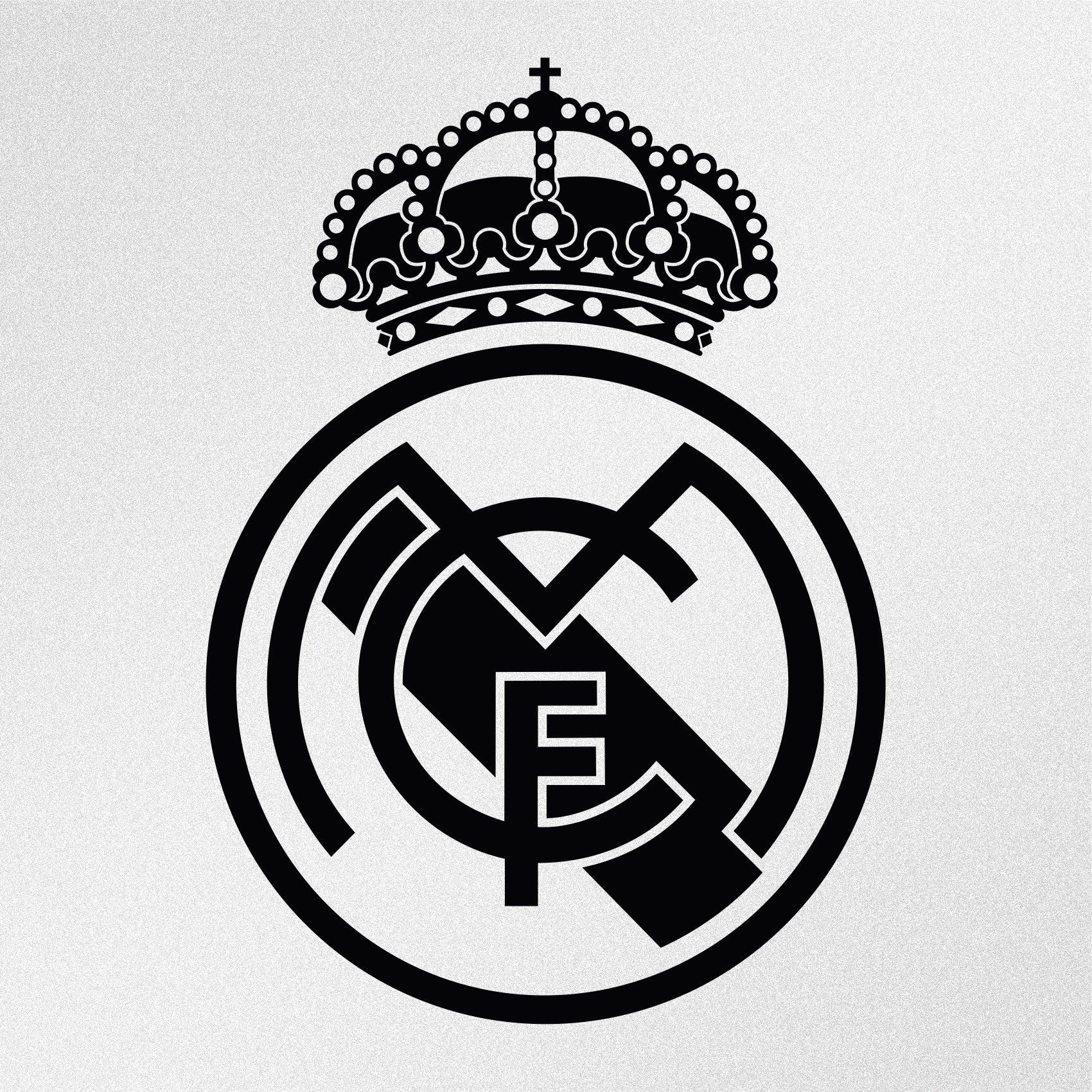 Real Madrid Logo Vinyl Decal Sticker Fondos De Pantalla Real Madrid Imagenes De Real Madrid Imprimibles Real Madrid