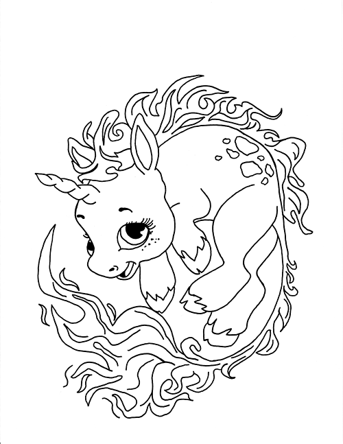 despicable me unicorn coloring page despicable me coloring pages - Cute Baby Unicorns Coloring Pages