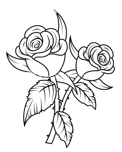 Rose Black And White Clip Art Free Clipart