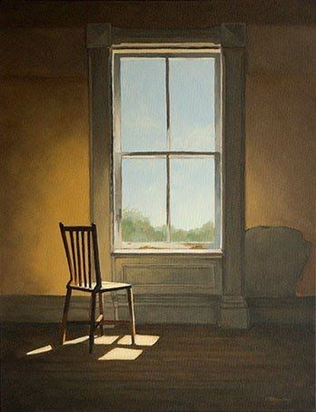 Realism Painting Chair Window Realism Painting Painting Light Painting