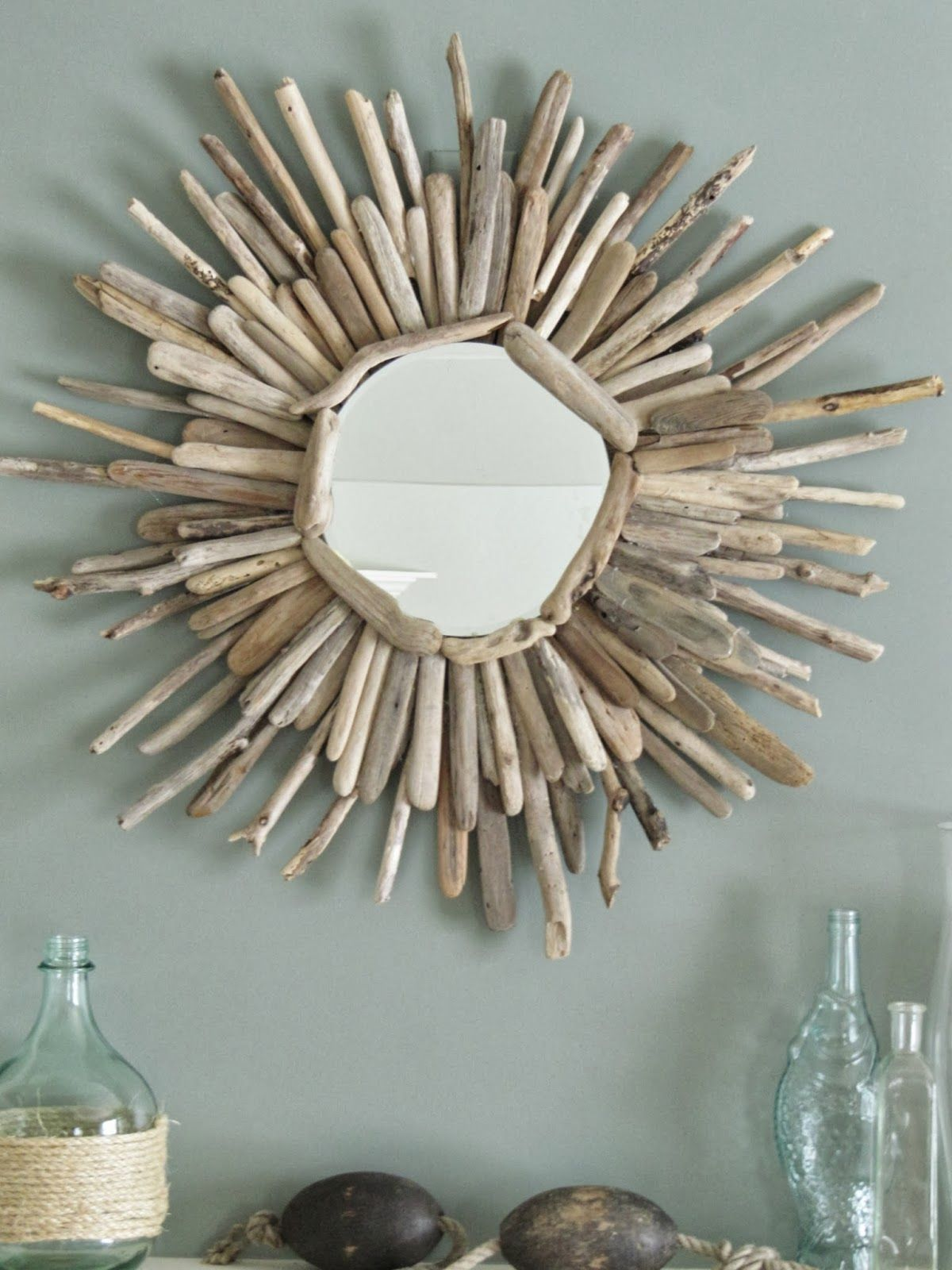 The Wicker House How To Make A Driftwood Mirror Part 2 Miroir