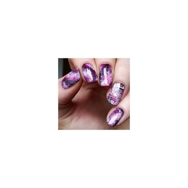Galaxy Nails ❤ liked on Polyvore featuring beauty products and nail care