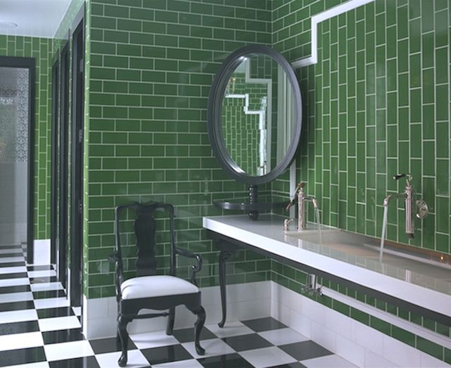 12 Of The Coolest Public Bathrooms In Los Angeles Green Bathroom