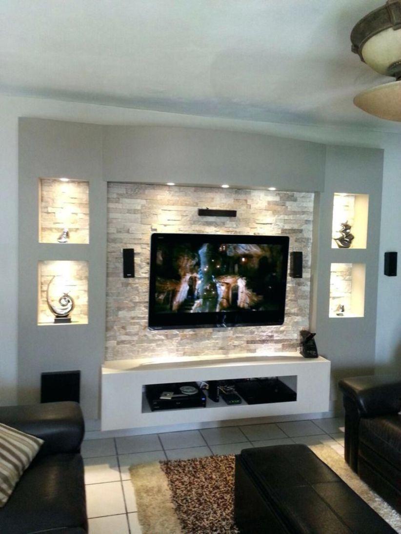55 Modern Tv Stand Design Ideas For Small Living Room Matchness Com Cheap Living Rooms Cheap Living Room Decor Living Room Tv Wall