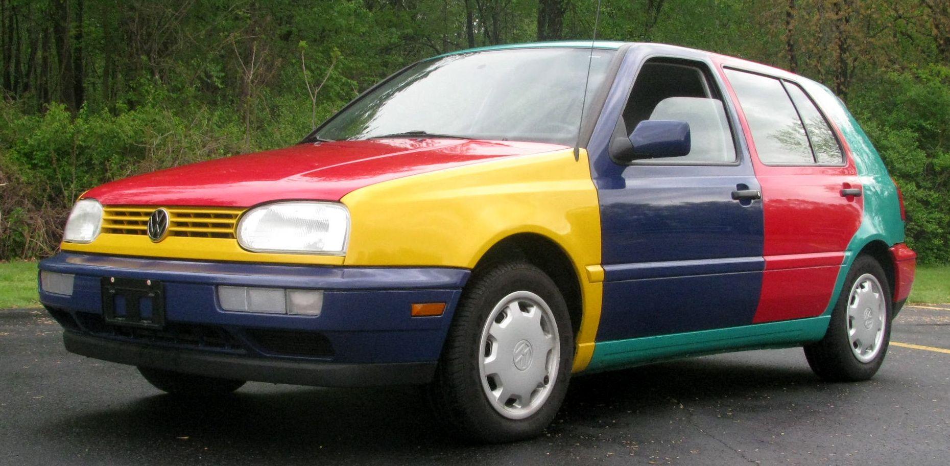 Very Rare 1996 Vw Golf Harlequin Volkswagen Vw Golf Volkswagen