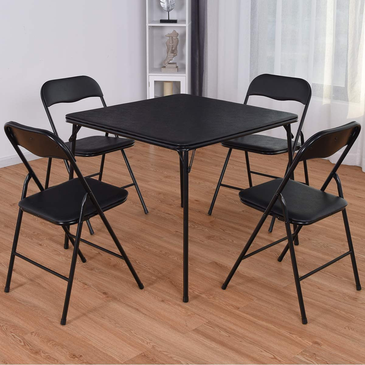 Folding Card Table And Chairs 5 Pc Set Card Table And Chairs Folding Table Table And Chair Sets