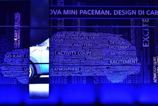 MINI PACEMAN_December, 2012 Dynamic installationfor MINI Paceman event Milan – Rome