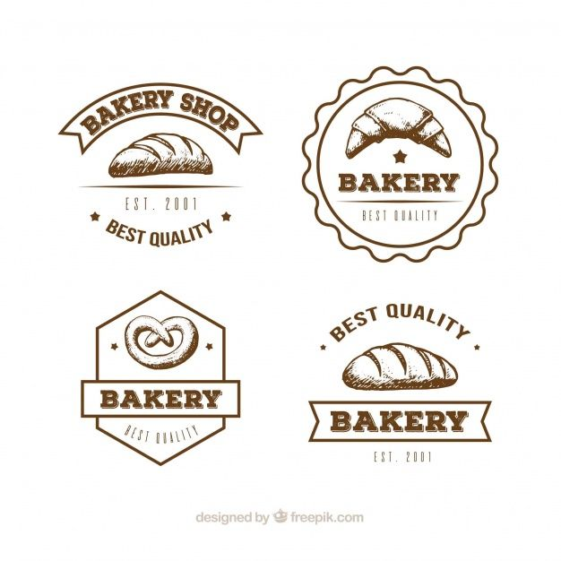 Download Collection Of Bakery Logos In Hand Drawn Style