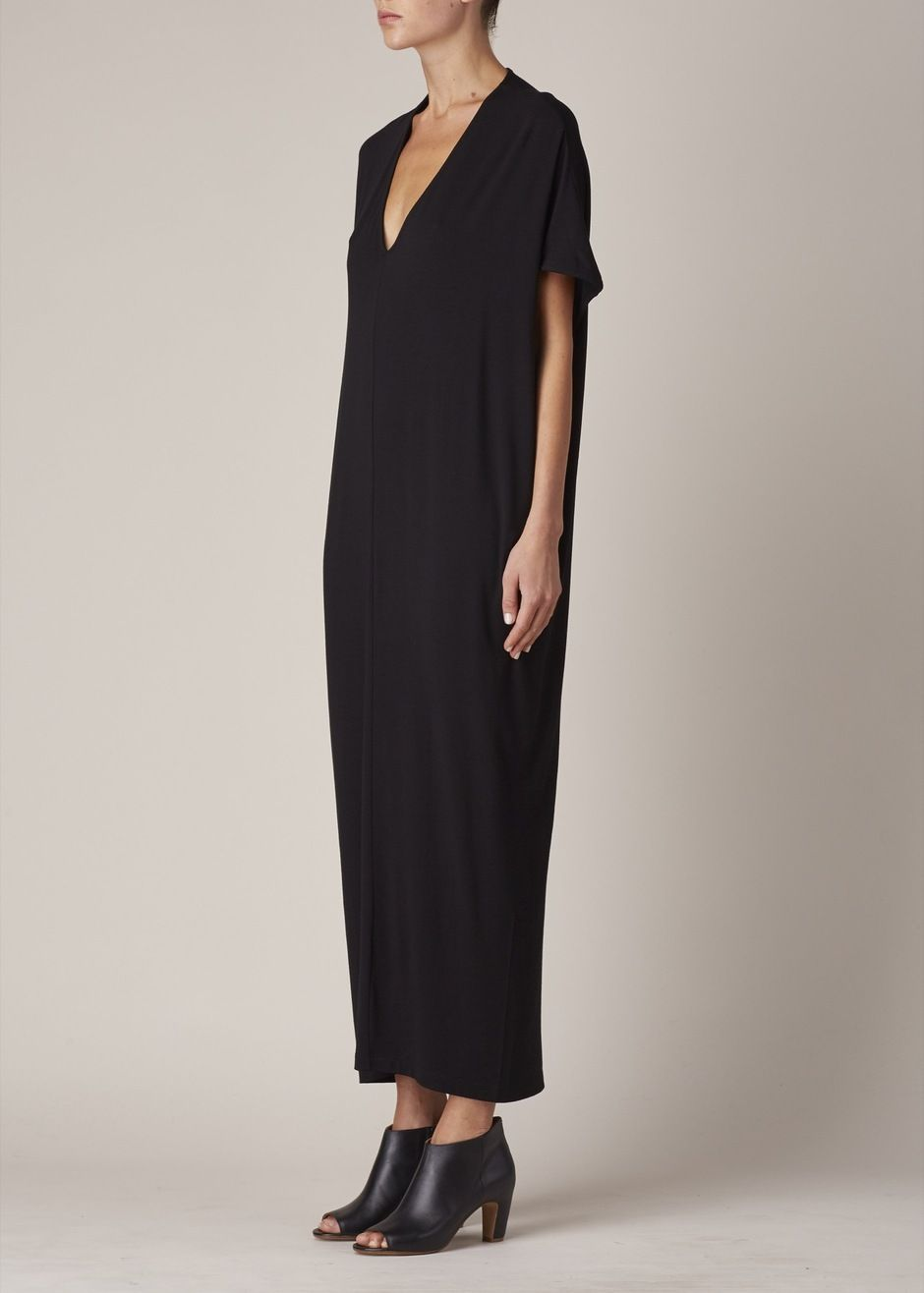 Zero Maria Cornejo Long Koya Dress Black