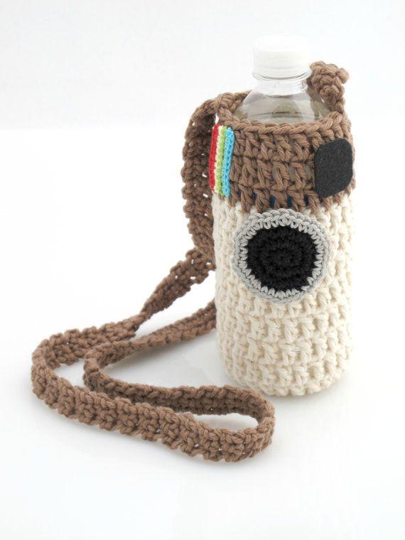 Instagram Water Bottle Holder Crochet Tote by EuniceNeedlecraft ...