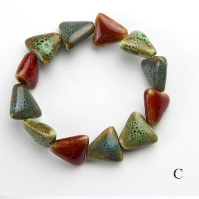 Colorful Porcelain Beaded Bracelet - Bracelets - Jewelry Free shipping