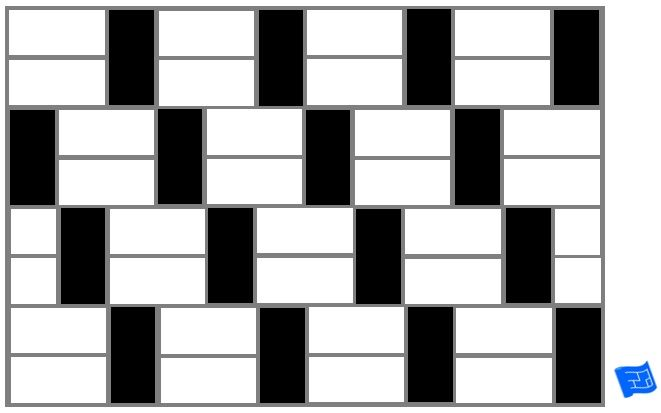Subway Tile Brick Tile Pattern Horizontal And Vertical Tile Offset Black And White For More On Tile Patterns And Home Des Tile Patterns Pattern Art Pattern