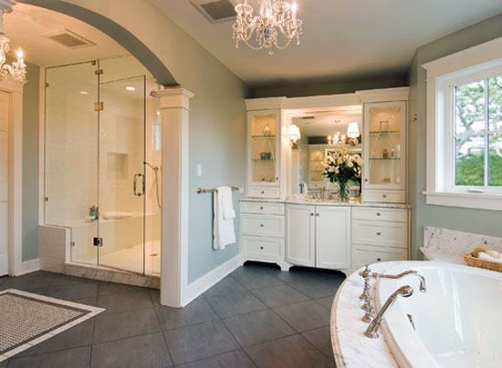 New Victorian Modern Large Bathrooms Designs From Nkba Award Love The Big Cabinet In The Corner