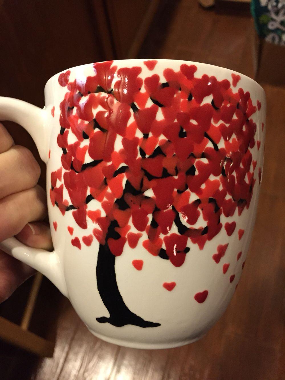 Color Me Mine Heart Tree Mug Color Me Mine Color Me Ceramic Painting