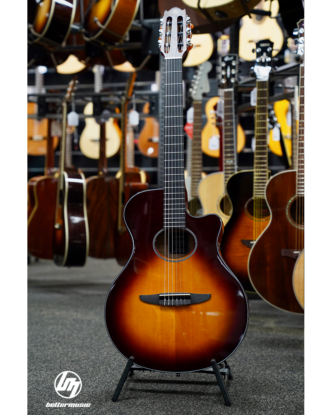 Yamaha Ntx500bs Classical Electric Guitar Brown Sunburst Yamahaguitars Talentcentral Coleclark Cort Crafter Yamaha Guitar Guitar Guitar For Beginners