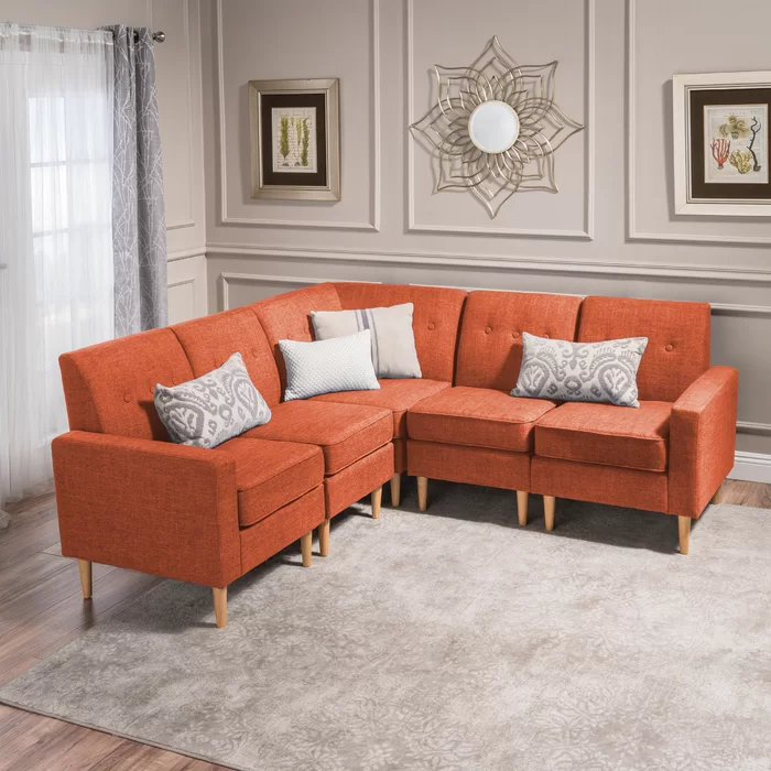 Weisser Symmetrical Mid Century Sectional | Mid century ...