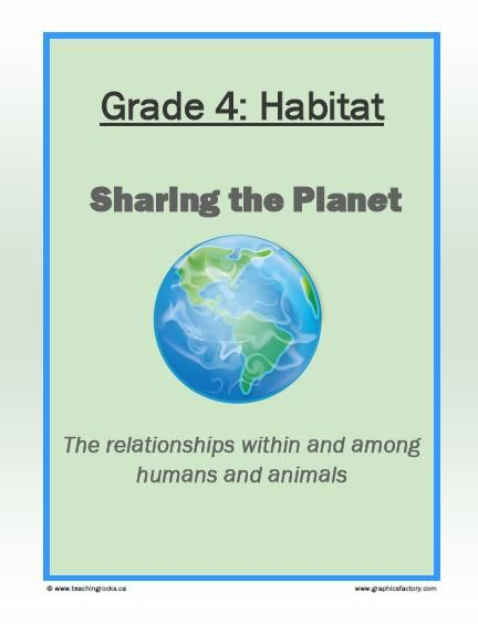 Habitat Sharing The Planetcross Curricular Activities To Teach