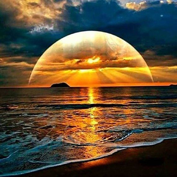 Full Square Or Round Diamond 5d Diy Diamond Painting Etsy Beautiful Sunset Beautiful Nature Nature Pictures