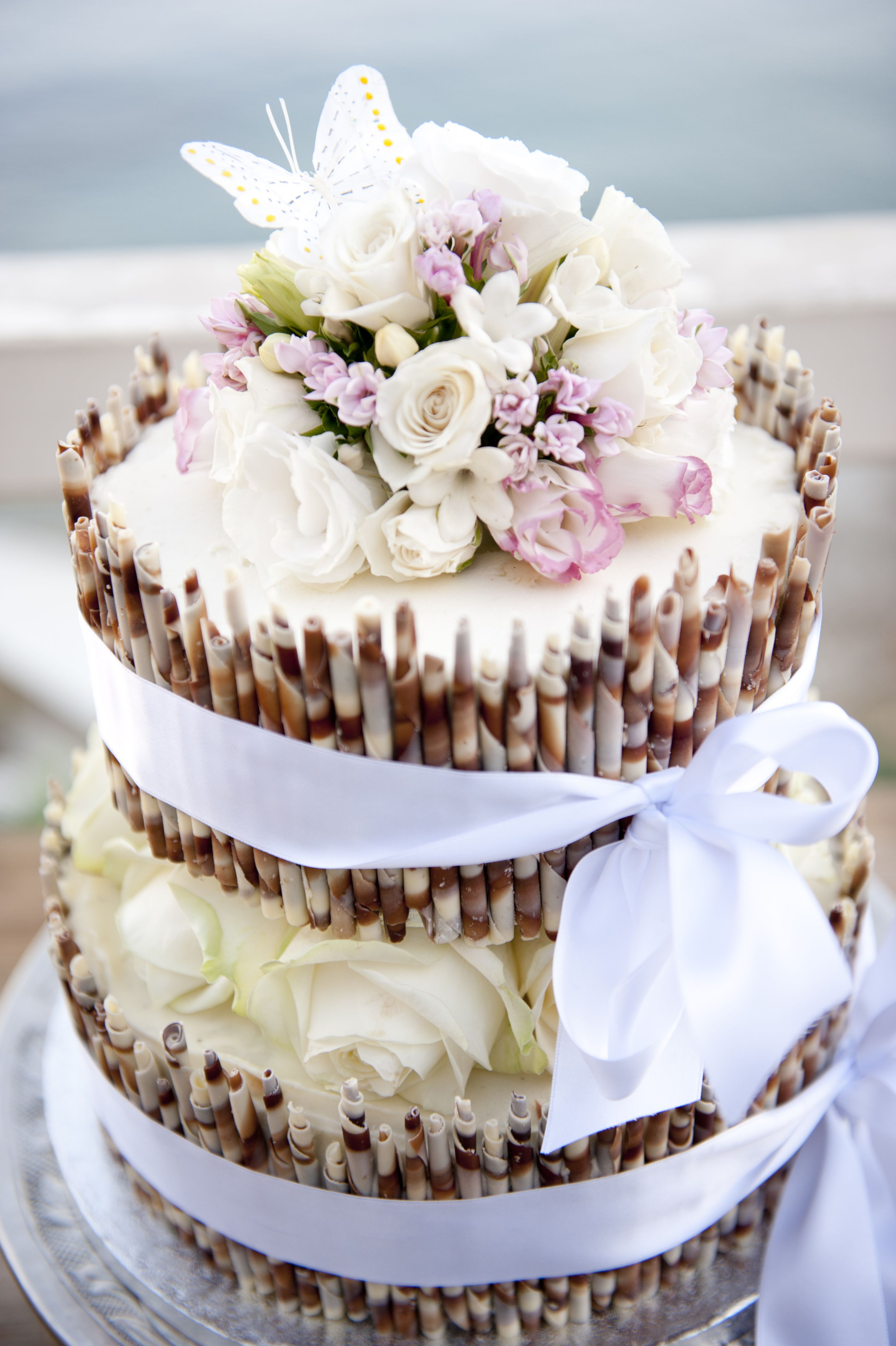 White Chocolate Cheesecake Wedding Cake For A Spring Wedding
