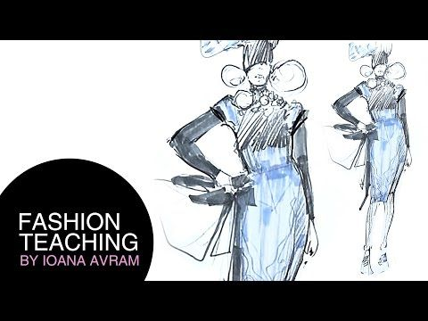 581d782f1c2 How to draw a fashion sketch step by step for beginners - YouTube ...
