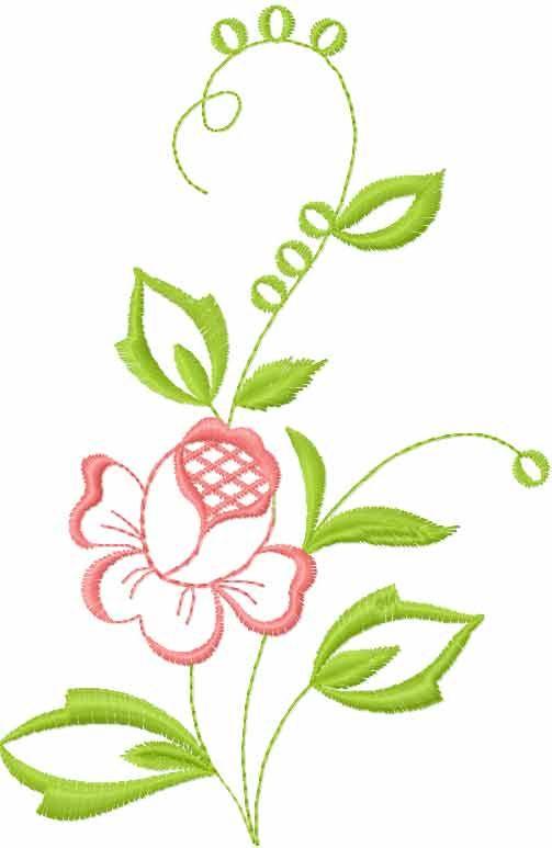 Flower free embroidery design flowers machine
