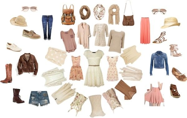 """""""nude peices and neutrals"""" by marianneemcintyre on Polyvore"""