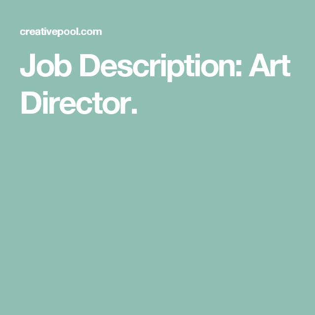 Job Description Art Director  Industrial Intelligence Branding
