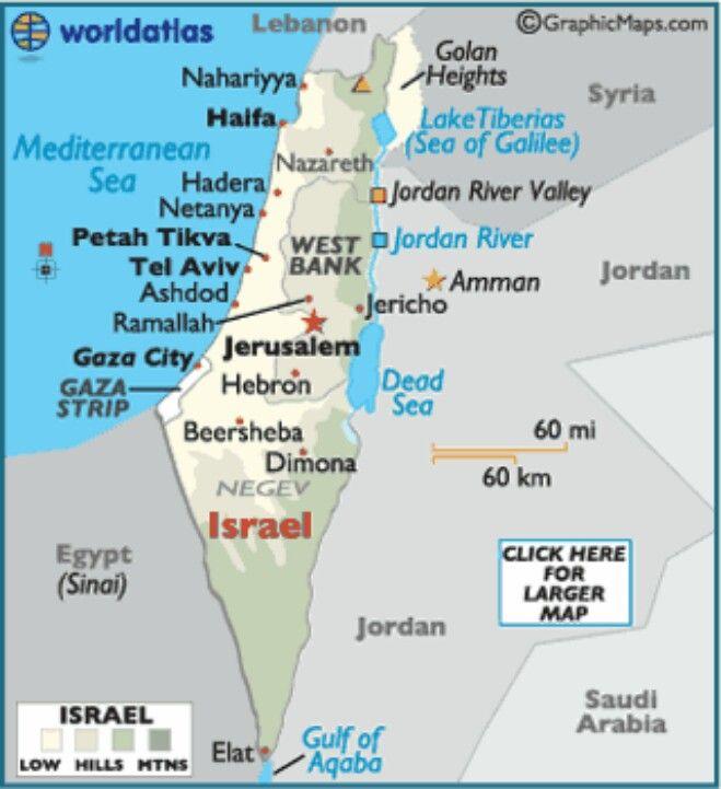 Israel map GlStationsvej 11159 Randers sv Denmark Scandinavian