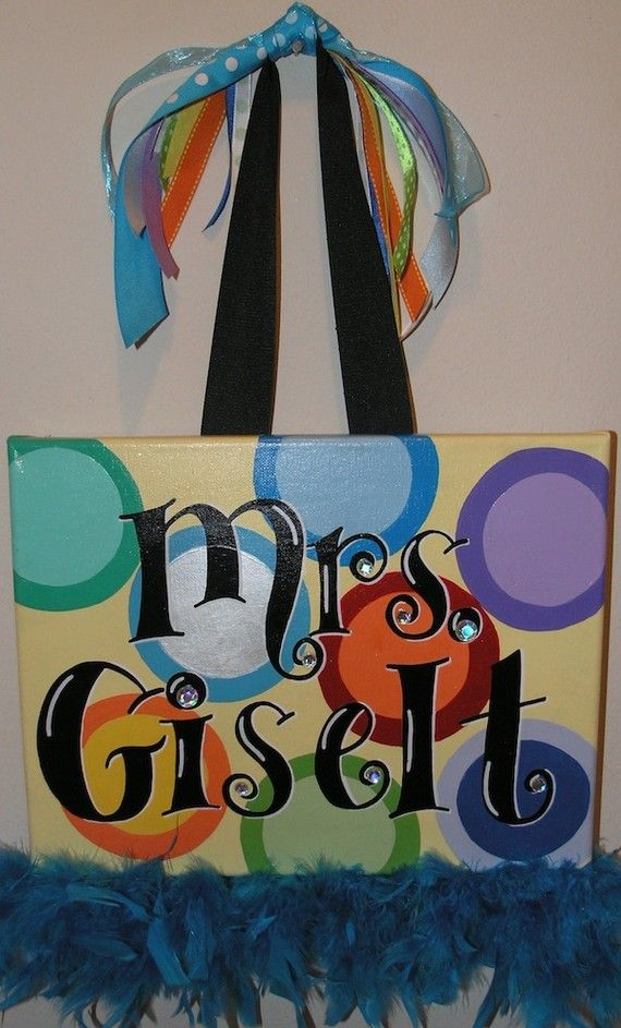 Personalized Hand Painted Canvas Wall Art 11x14 by TheDrawingBoard, $35.00